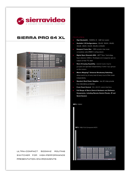 Sierra PRO 6464 XL flyer
