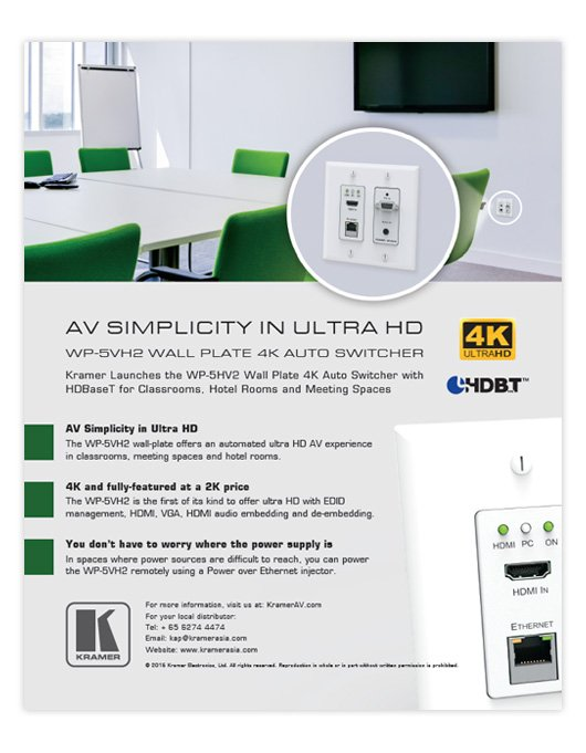 4K Auto Switcher Wall Plate AD