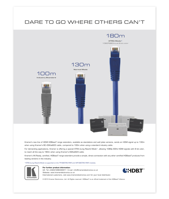 HDBaseT - Cables ad