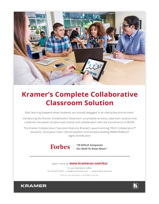 Kramer Collaborative Classroom Ad