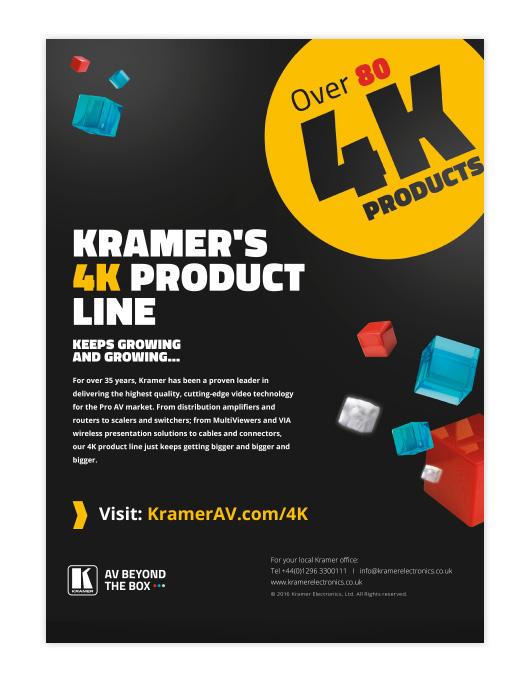Kramer's 4K product line
