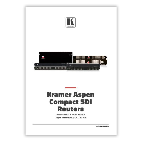 Kramer ASPEN SDI Compact Routers