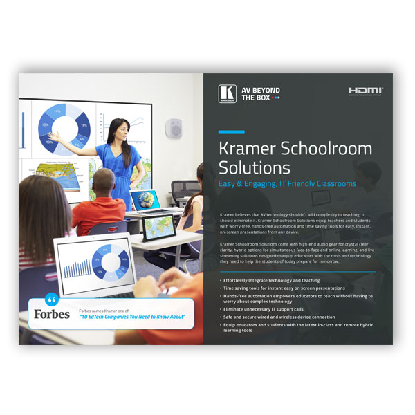 Kramer Schoolroom Solutions Flyer