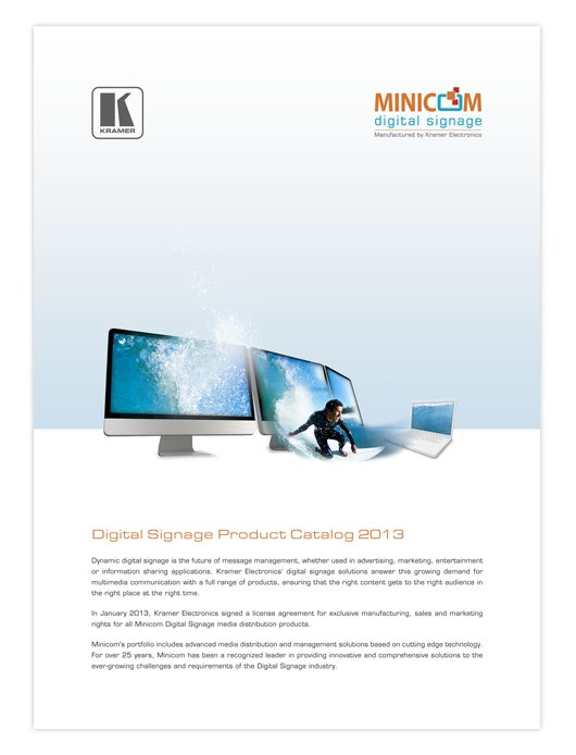 Minicom Digital Signage Products Catalog 2013