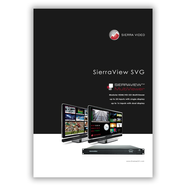 SierraView SVG brochure