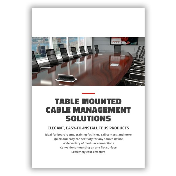 Table Mounted Cable Management Solutions