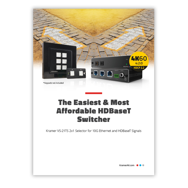 The Easiest & Most Affordable Hdbaset Switcher flyer