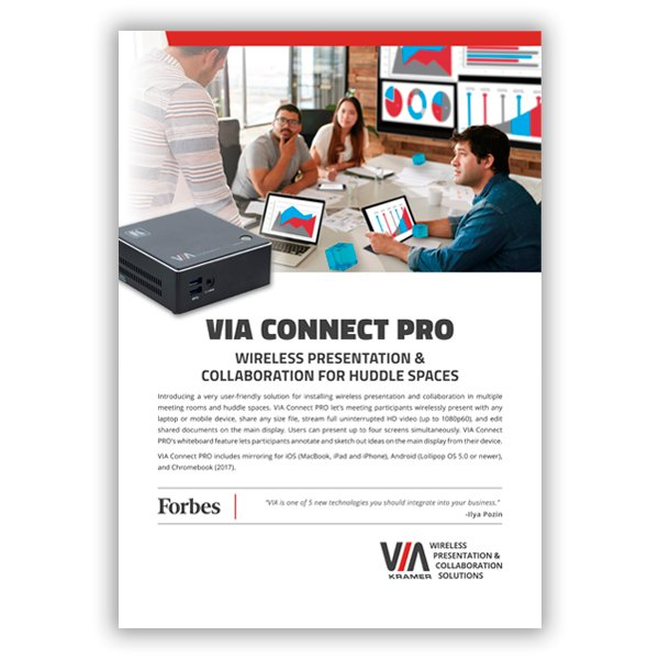 VIA Connect PRO flyer