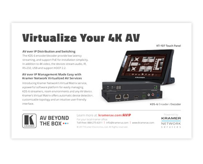 Virtualize Your 4K AV