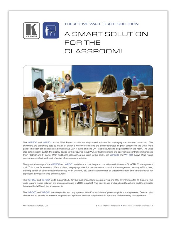 A SMART SOLUTION FOR THE CLASSROOM