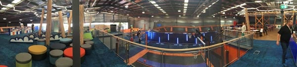 AV Technology for Sky Zone Trampoline Parks