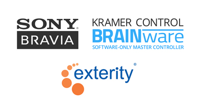 Sony BRAVIA 4K HDR professional displays integrate Kramer advanced control features, Exterity ArtioGuest® interactive portal and Chromecast