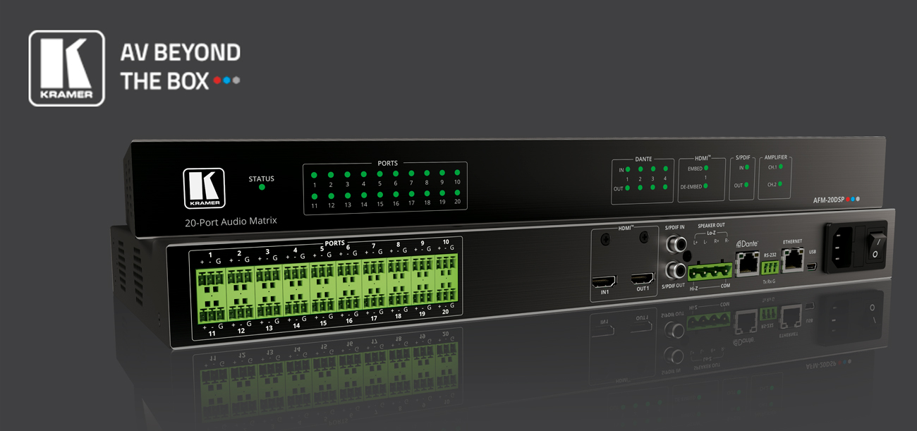 Kramer Unveils the Industry's First  Audio Matrix with DSP and Interchangeable I/Os
