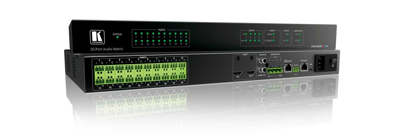 US Debut for Kramer's Industry-First Audio Matrix with DSP and Interchangeable I/Os