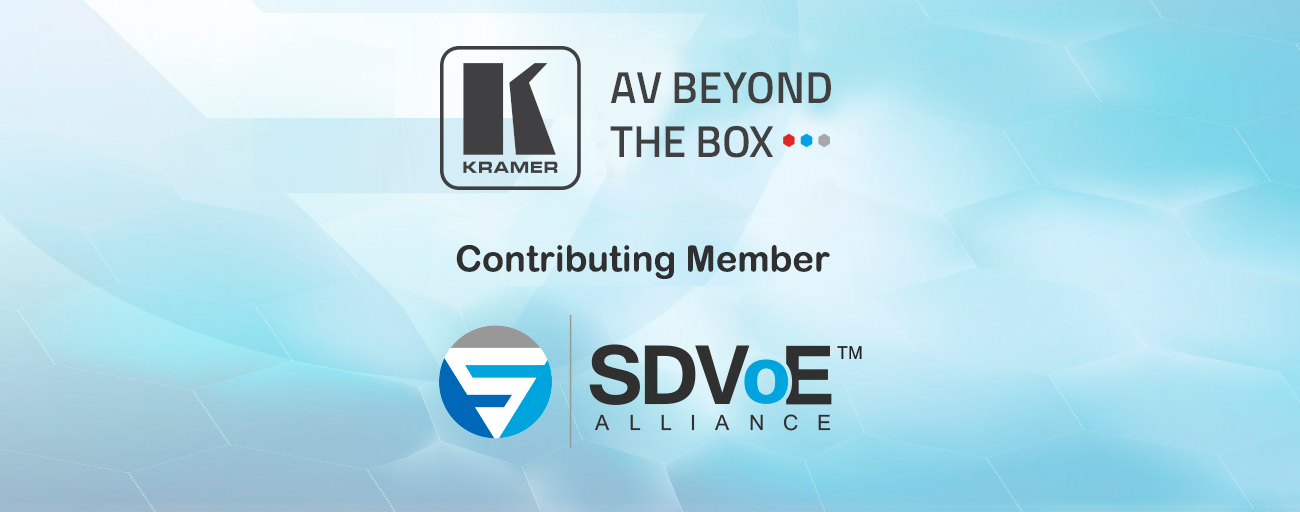 Kramer Becomes a Contributing Member  of the SDVoE Alliance