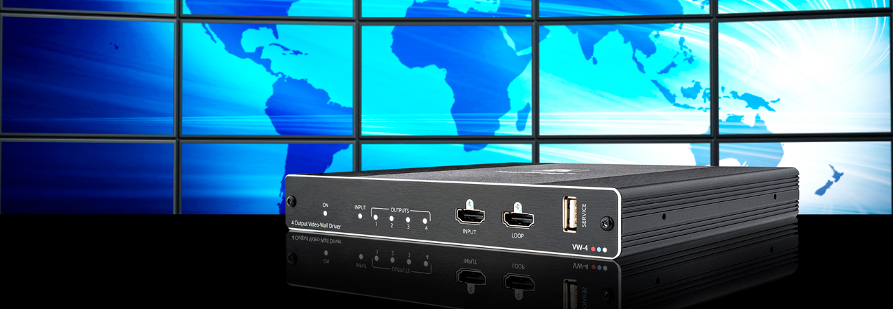 Kramer launches VW-4 video wall driver