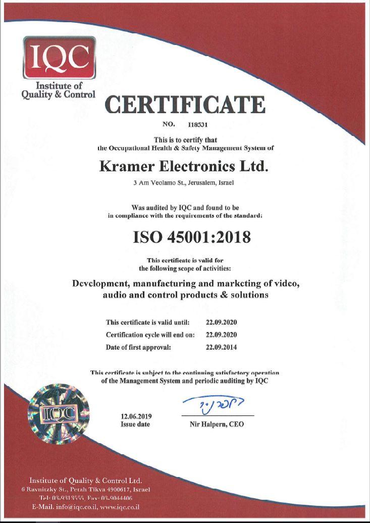 kramer-iso45001-2018